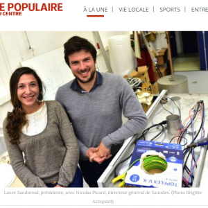 LP Box in Le populaire du Centre (Newspaper)