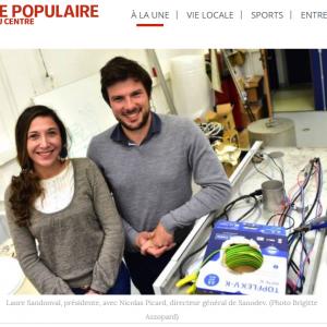 LP Box in Le populaire du Centre (Newspaper)